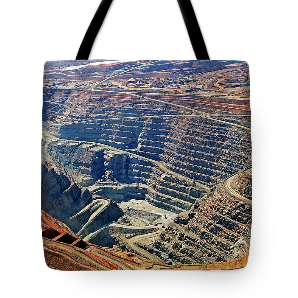 Mineral Tote Bag featuring the photograph Kcgm. Gold Mine,western Australia by John W Banagan