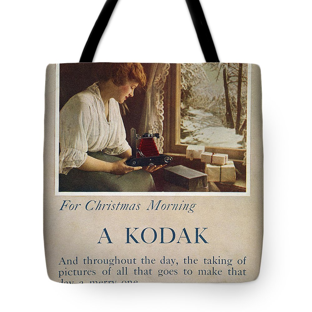 1914 Tote Bag featuring the painting Kodak Advertisement, 1914 by Granger