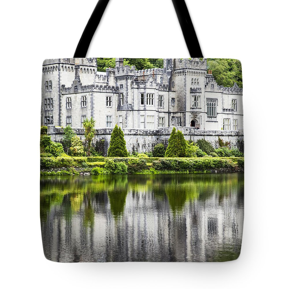 Benedictine Monastery Tote Bag featuring the photograph Kylemore Abbeycounty Galway Ireland by Peter Zoeller