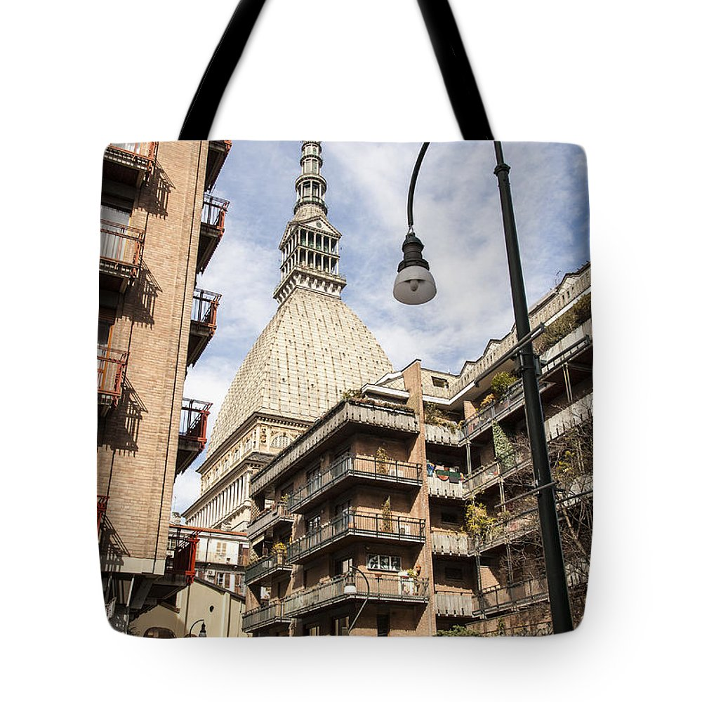 Architecture Tote Bag featuring the photograph La Mole Antonelliana by Sonny Marcyan