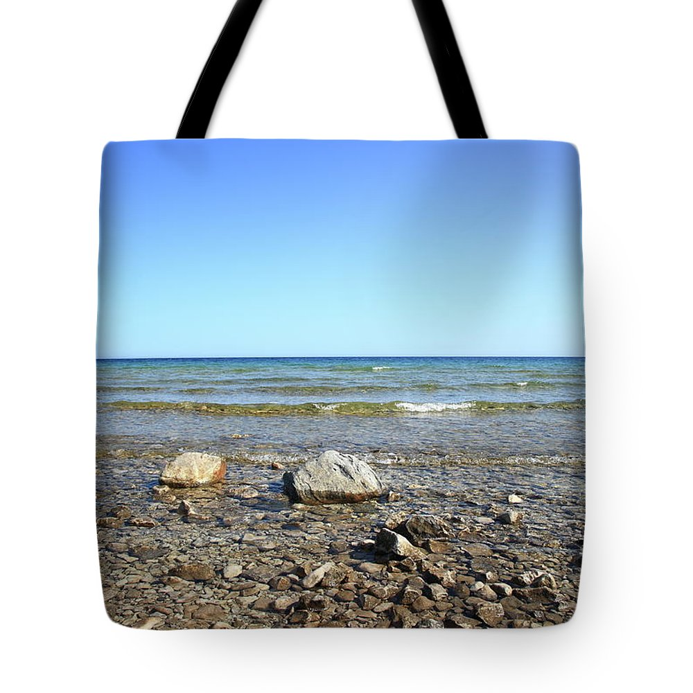 America Tote Bag featuring the photograph Lake Huron by Frank Romeo