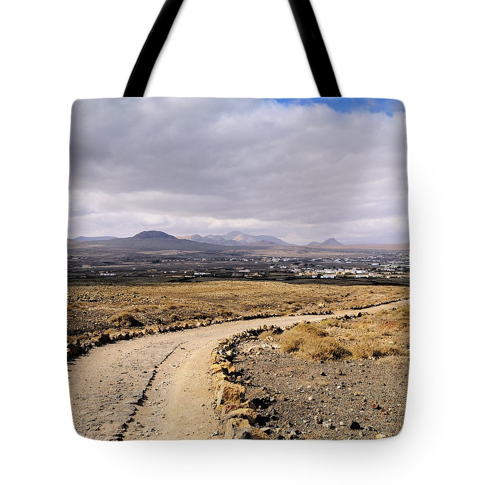 Landscape Tote Bag featuring the photograph Lanzarote by Karol Kozlowski