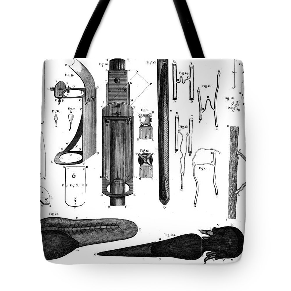 1800 Tote Bag featuring the photograph Leeuwenhoek: Microscope by Granger