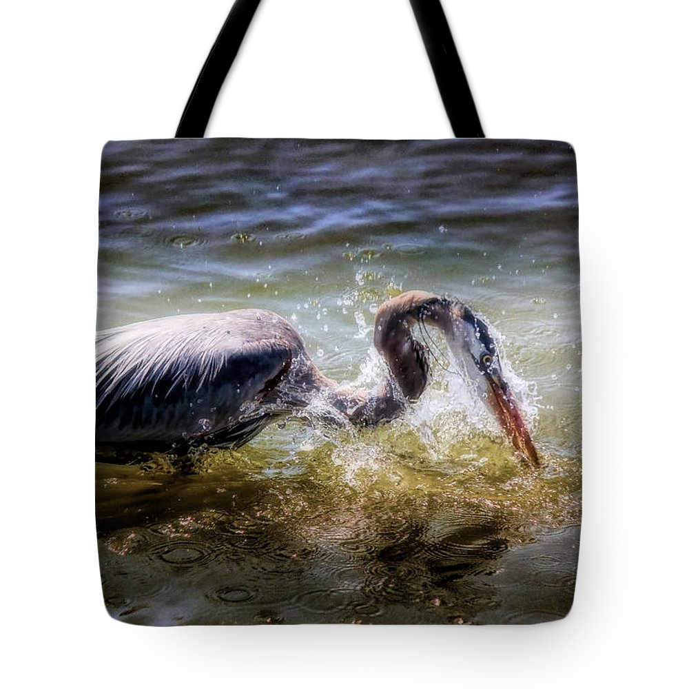Great Blue Heron Tote Bag featuring the photograph Lethal Dagger by Ola Allen