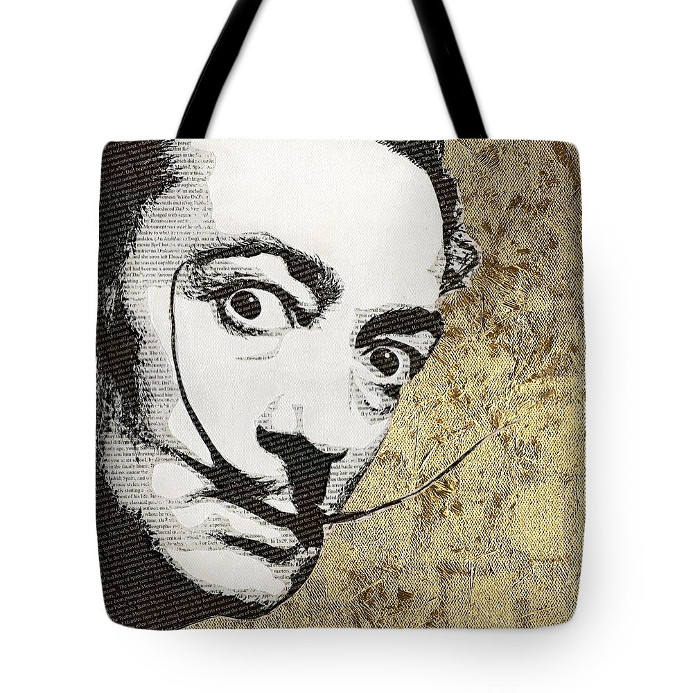 Salvador Dali Tote Bag featuring the mixed media Literally Salvador Dali by Gary Hogben