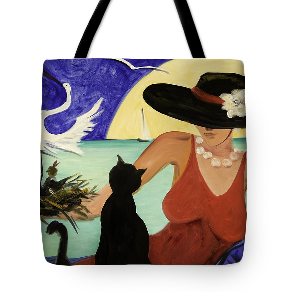 Colorful Art Tote Bag featuring the painting Living The Dream by Gina De Gorna