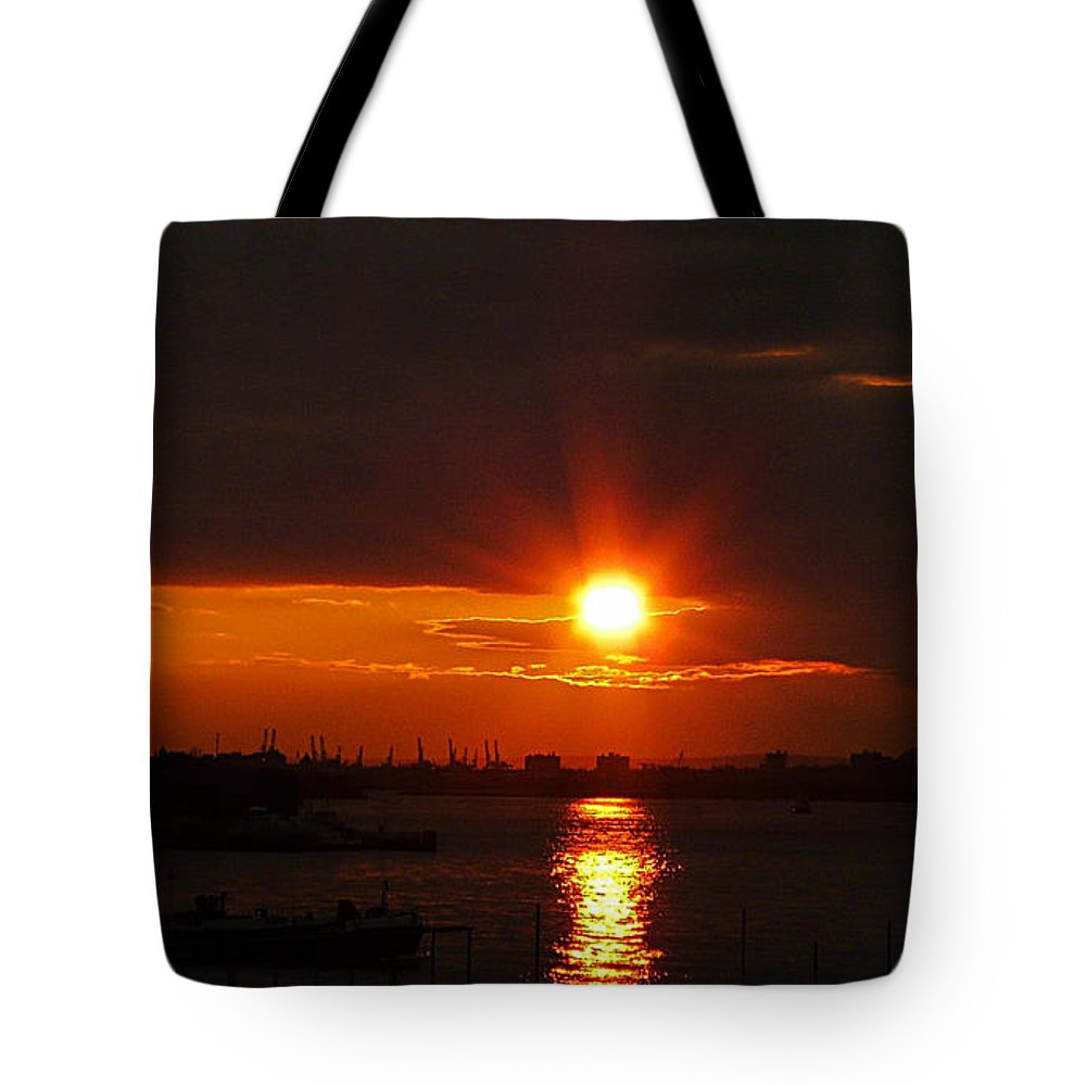 Sunset Tote Bag featuring the photograph Living Without You by Kendall Eutemey
