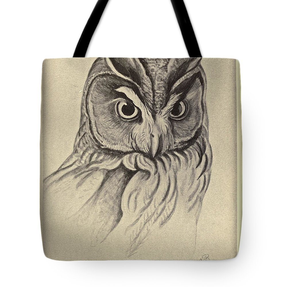 Audubon Tote Bag featuring the painting Long Eared Owl by Philip Ralley