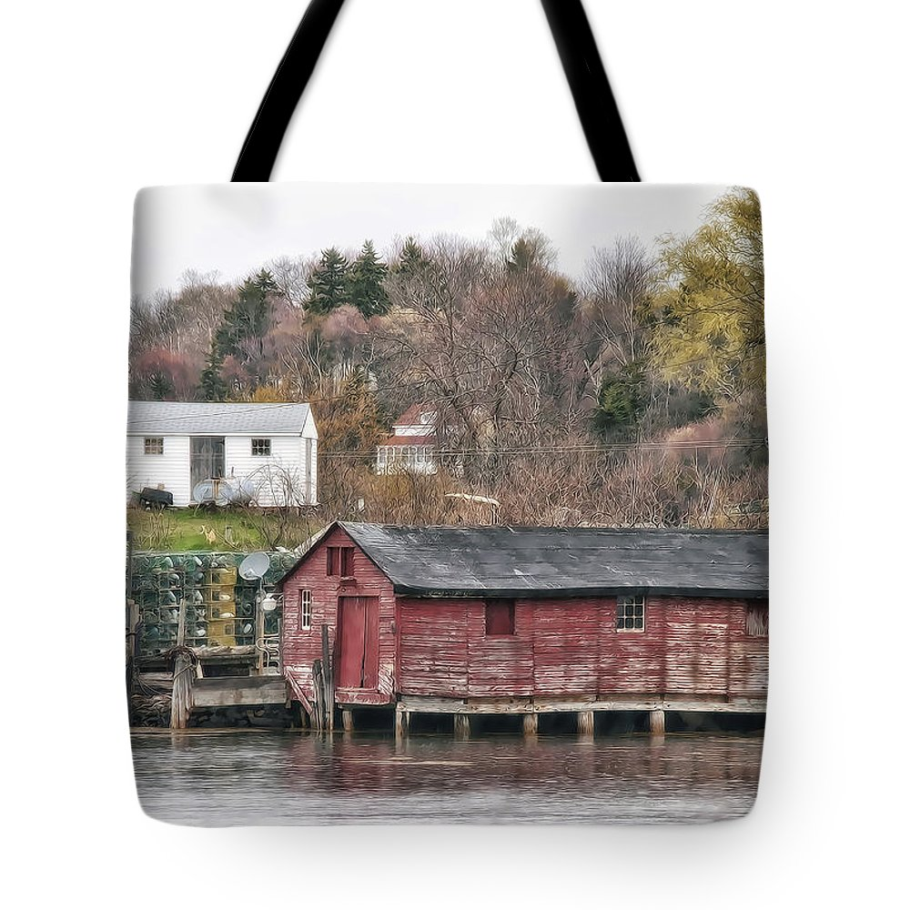 Architecture Tote Bag featuring the photograph Long Island Maine by Richard Bean