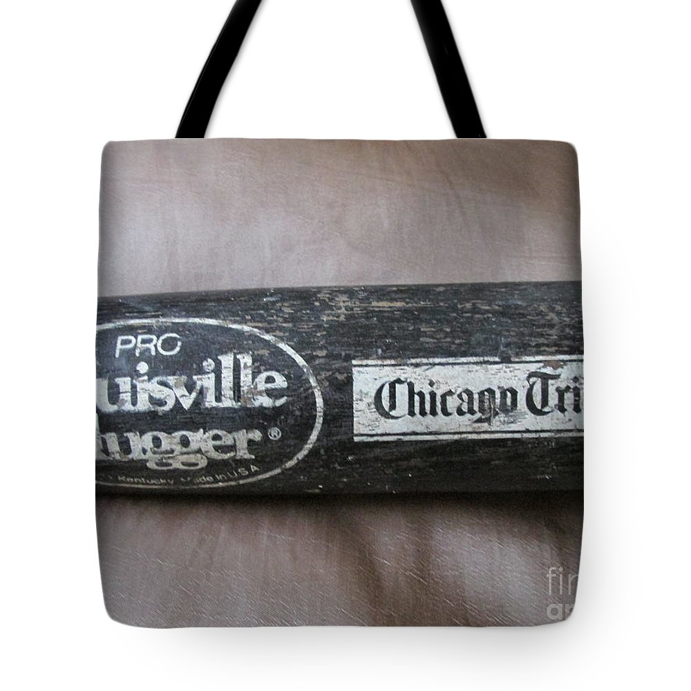 Baseball Bat Tote Bag featuring the photograph Louisville Slugger by Don Baker