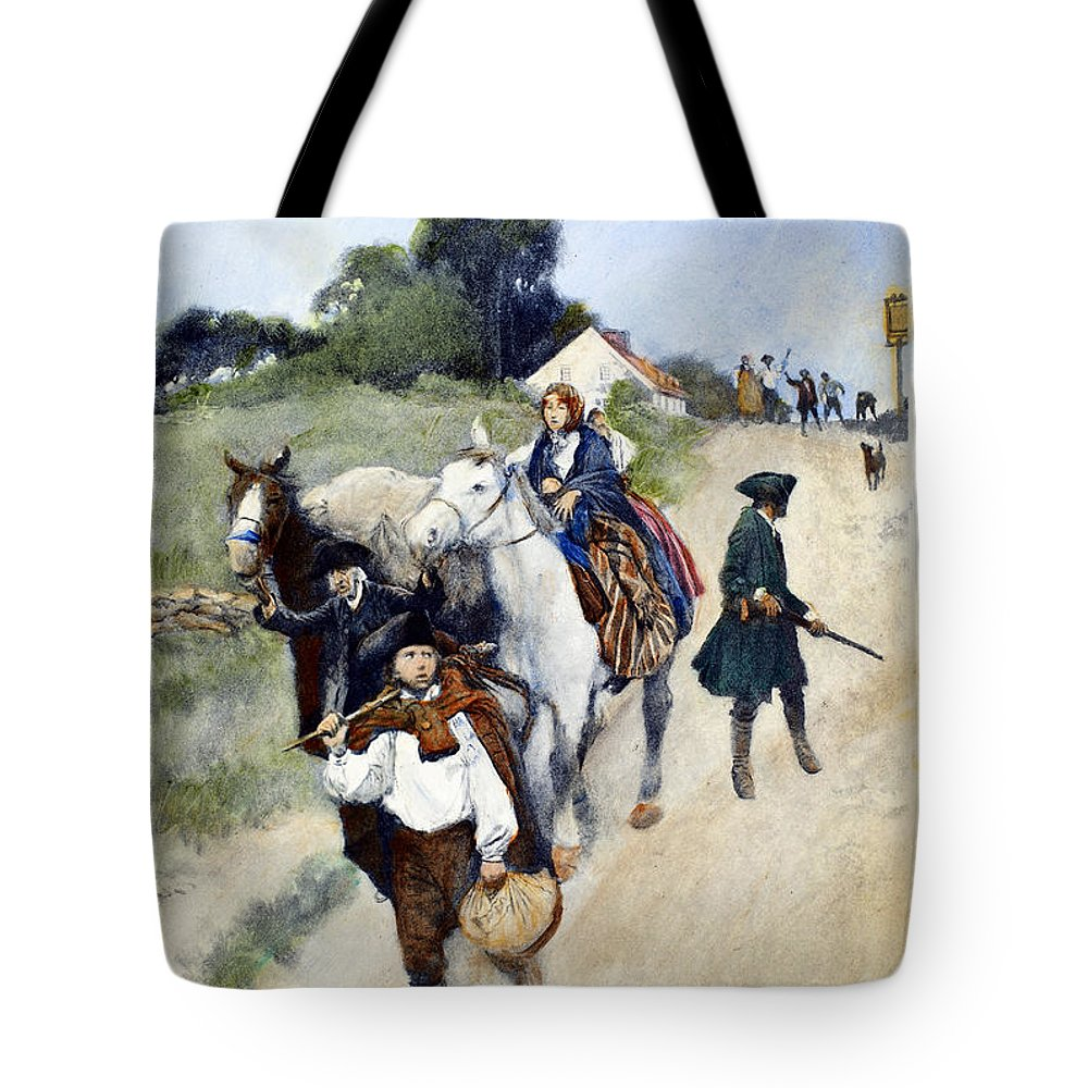 1784 Tote Bag featuring the photograph Loyalists To Canada by Granger