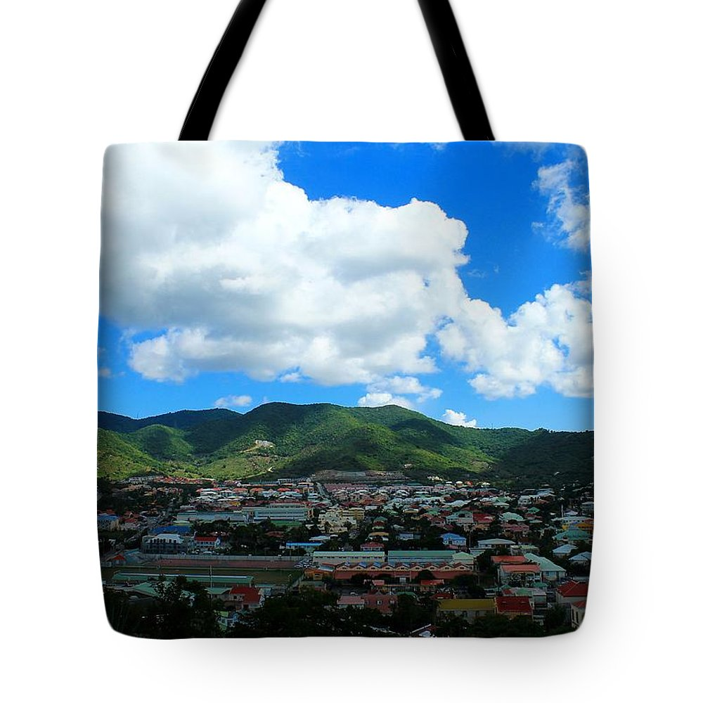 Marigot Tote Bag featuring the photograph Marigot by James Markey