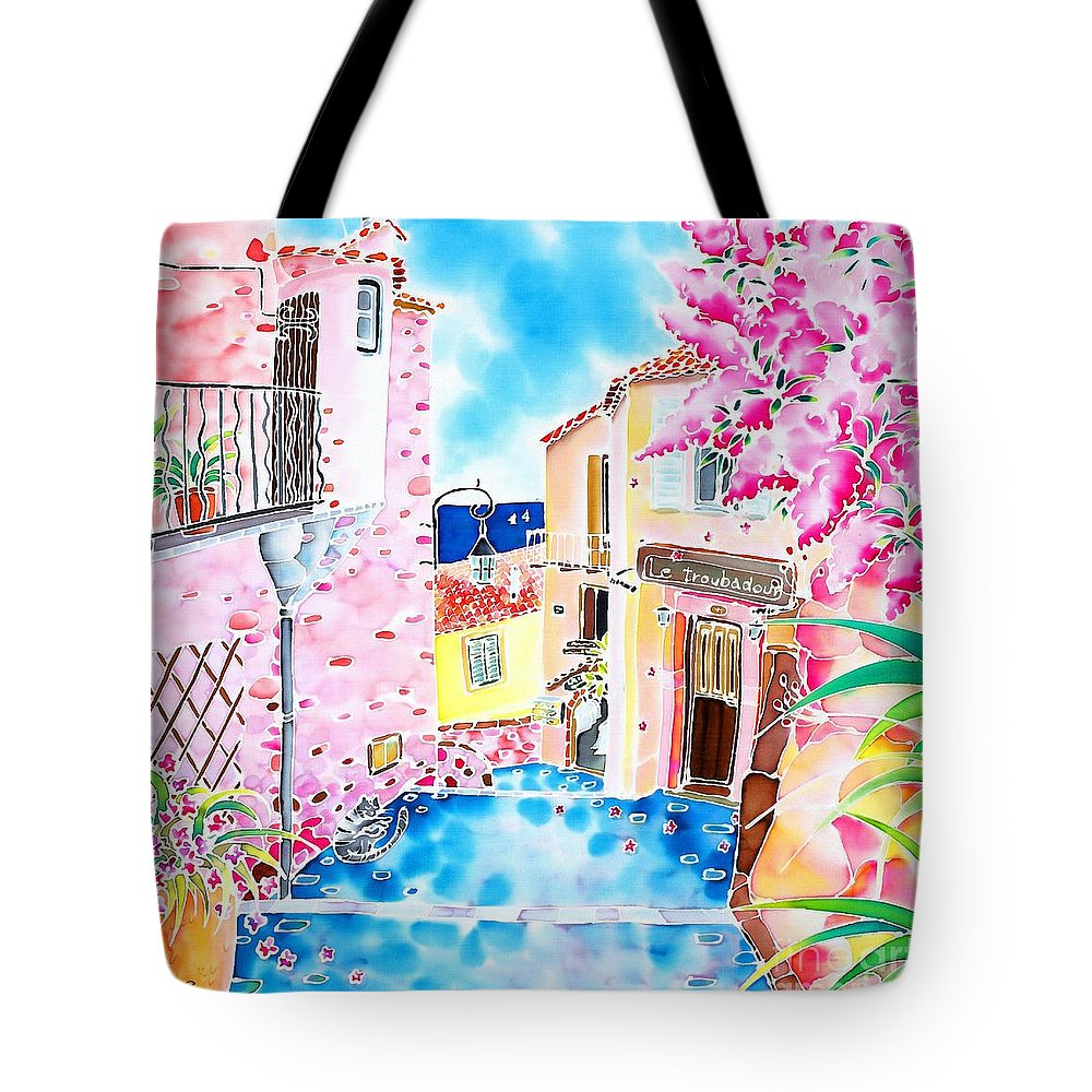France Tote Bag featuring the painting Mediterranean Wind by Hisayo Ohta