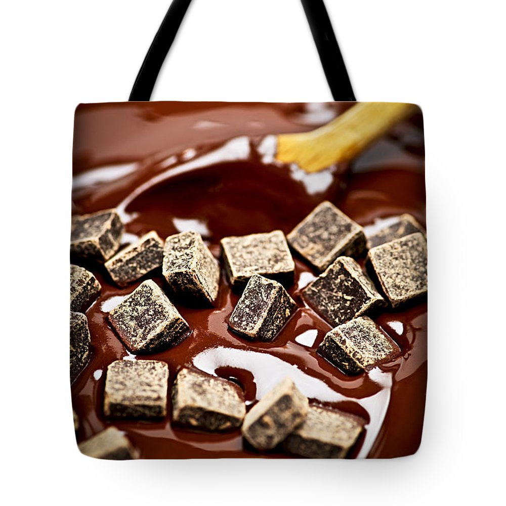 Chocolate Tote Bag featuring the photograph Melting Chocolate by Elena Elisseeva