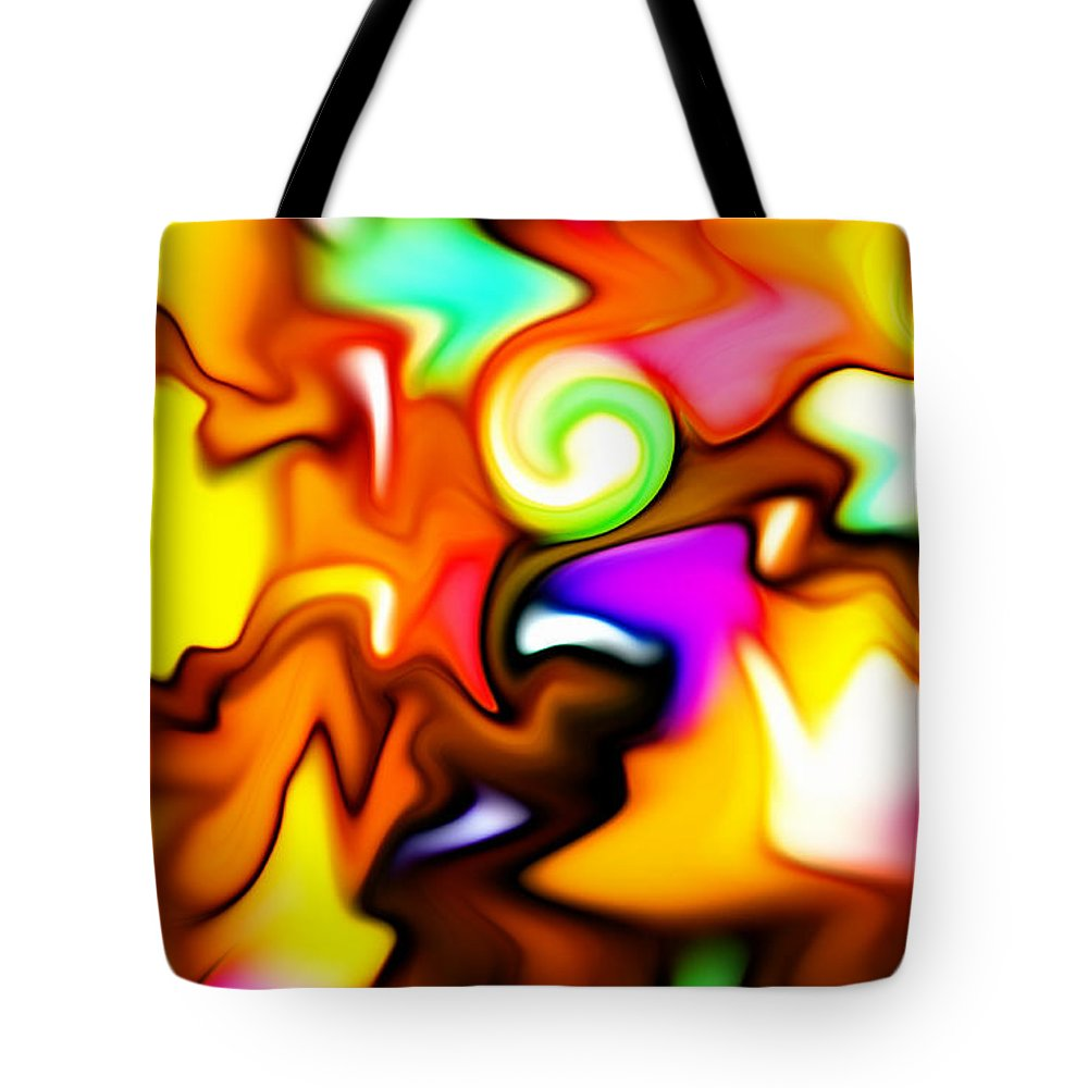 Color Colors Colorful Melting Abstract Expressionism Tote Bag featuring the painting Melting Colors by Steve K