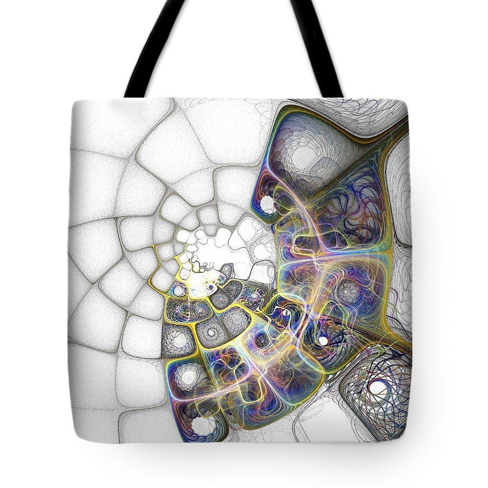 Digital Art Tote Bag featuring the digital art Memories by Amanda Moore