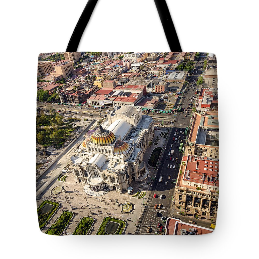 Mexico Tote Bag featuring the photograph Mexico City Aerial View by Jess Kraft