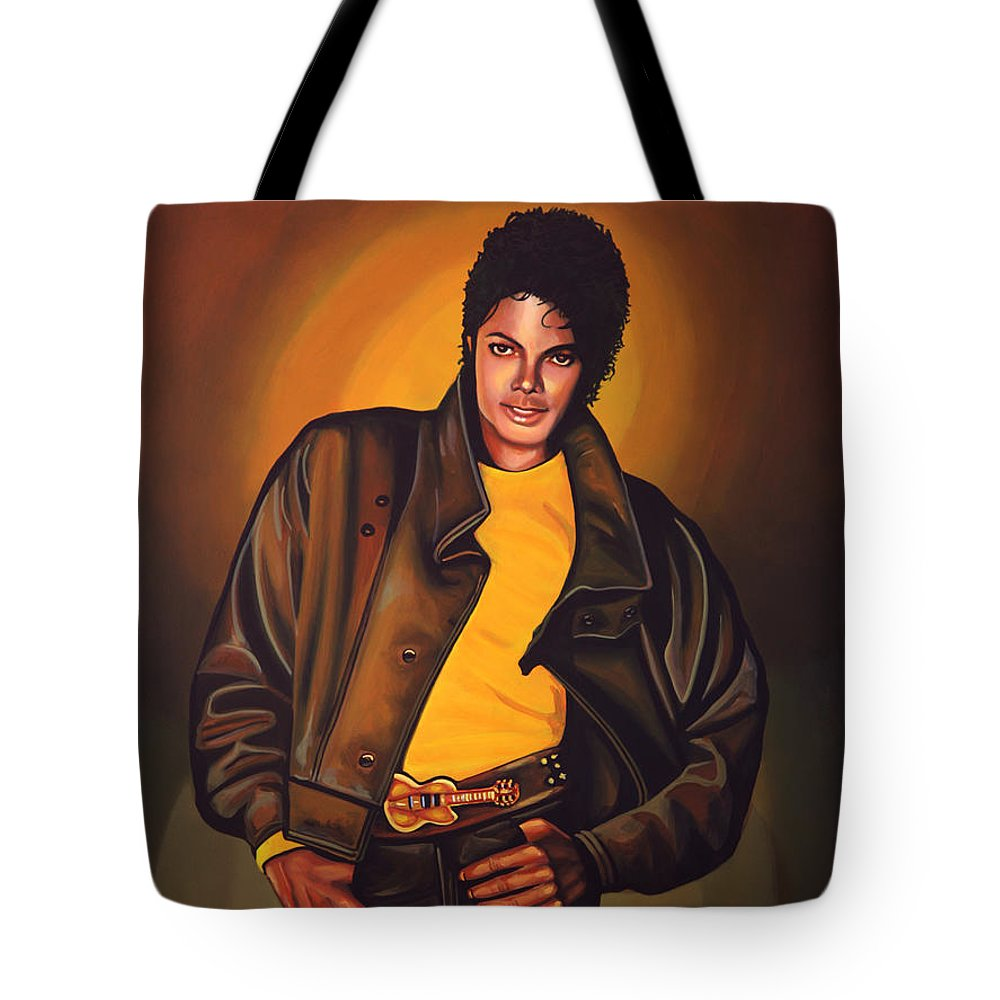 Michael Jackson Tote Bag featuring the painting Michael Jackson by Paul Meijering