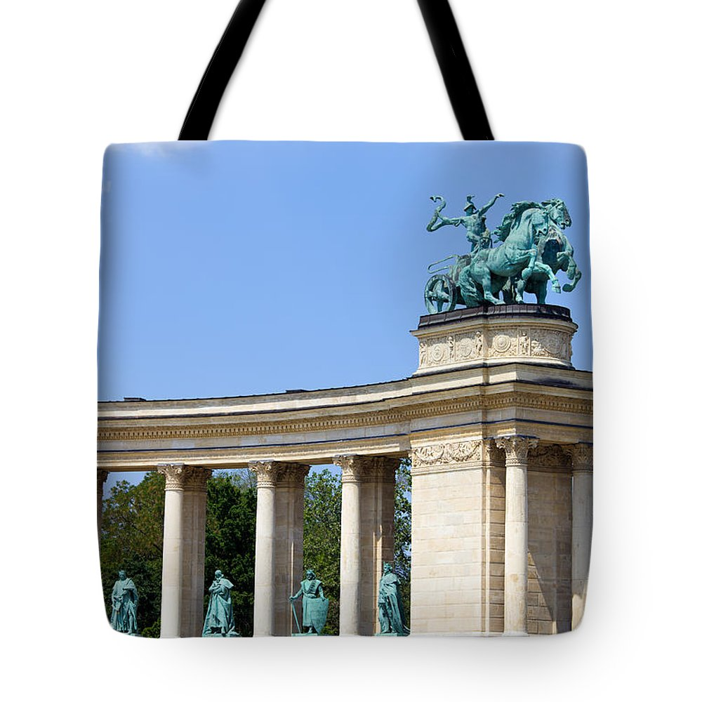 Millennium Tote Bag featuring the photograph Millennium Monument In Budapest by Artur Bogacki