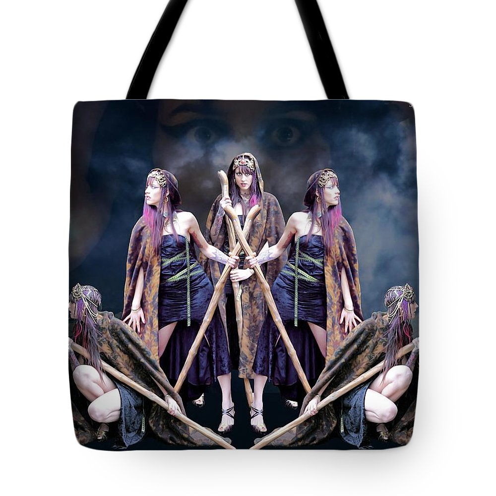 Sexy Tote Bag featuring the photograph Mirror Image by Jon Volden