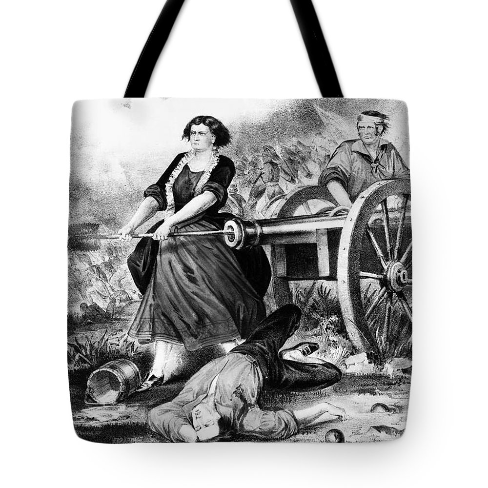 18th Century Tote Bag featuring the photograph Molly Pitcher (c1754-1832) by Granger