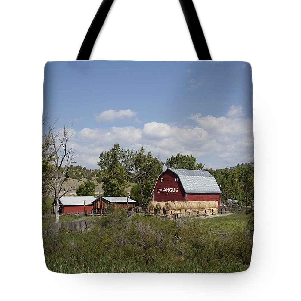 Farm Tote Bag featuring the photograph Montana Farm by Mountain Dreams