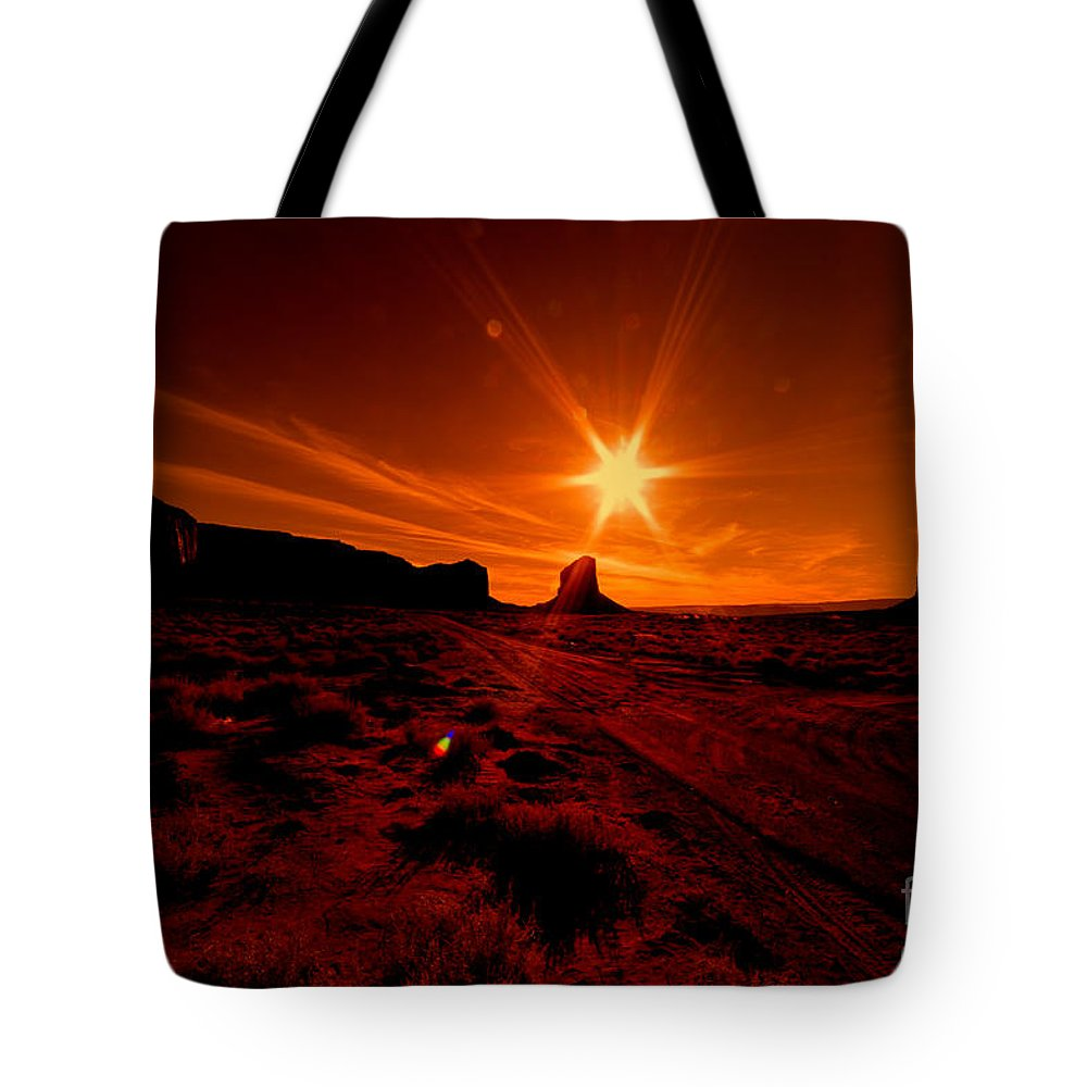 Monument Valley Tote Bag featuring the photograph Monument Valley -utah by Douglas Barnard