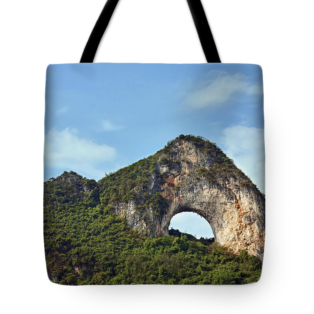 Guangxi Tote Bag featuring the photograph Moon Hill, Yangshuo, China by David Davis