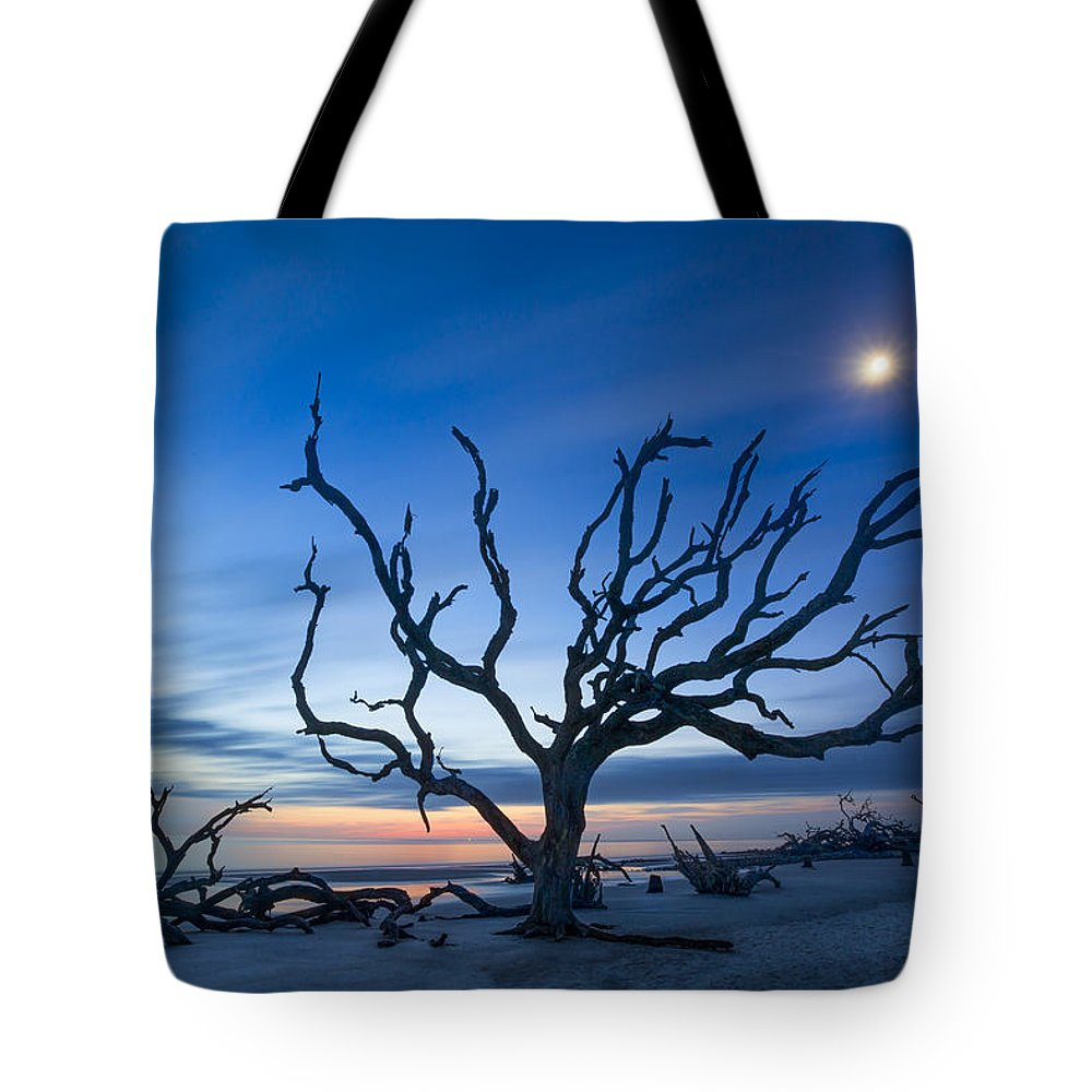 Clouds Tote Bag featuring the photograph Moonshine by Debra and Dave Vanderlaan
