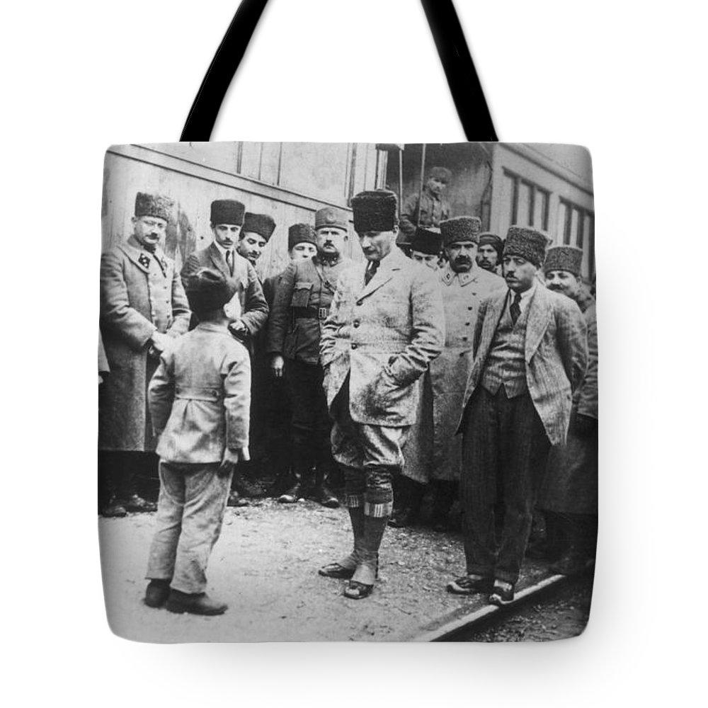 20th Century Tote Bag featuring the photograph Mustafa Kemal Ataturk by Granger