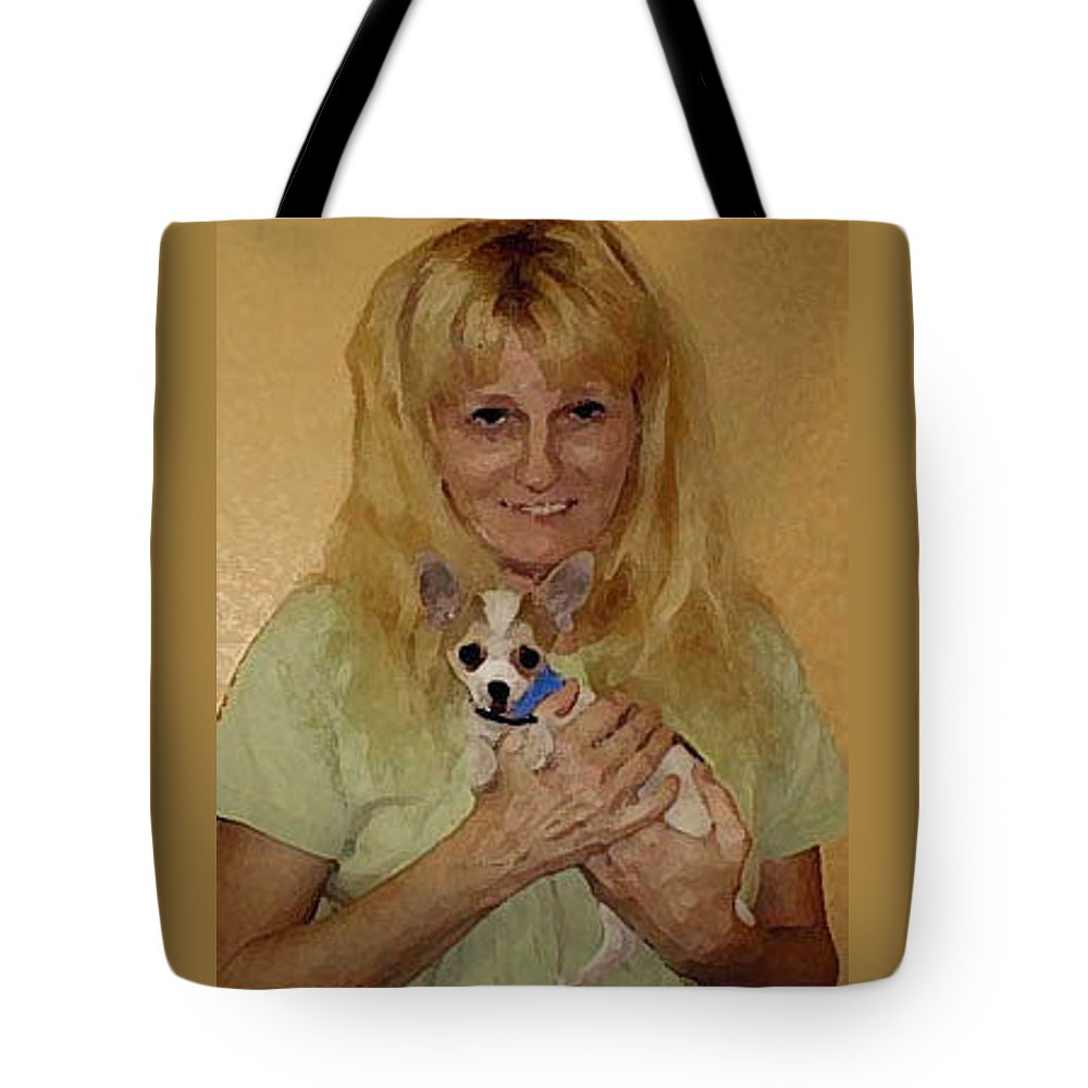 Chihuahua Tote Bag featuring the photograph My Heart Belongs To Chachi by Leah Delano