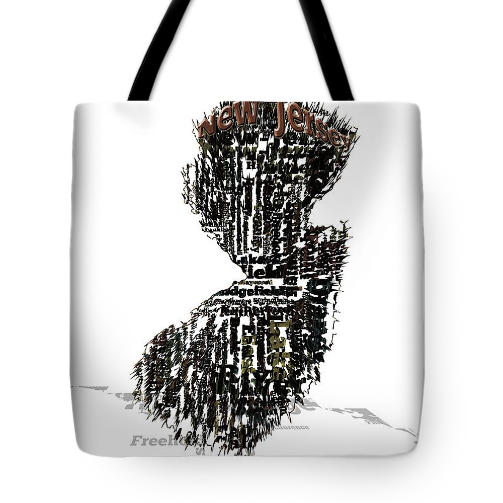 New Jersey Tote Bag featuring the digital art New Jersey by Brian Reaves