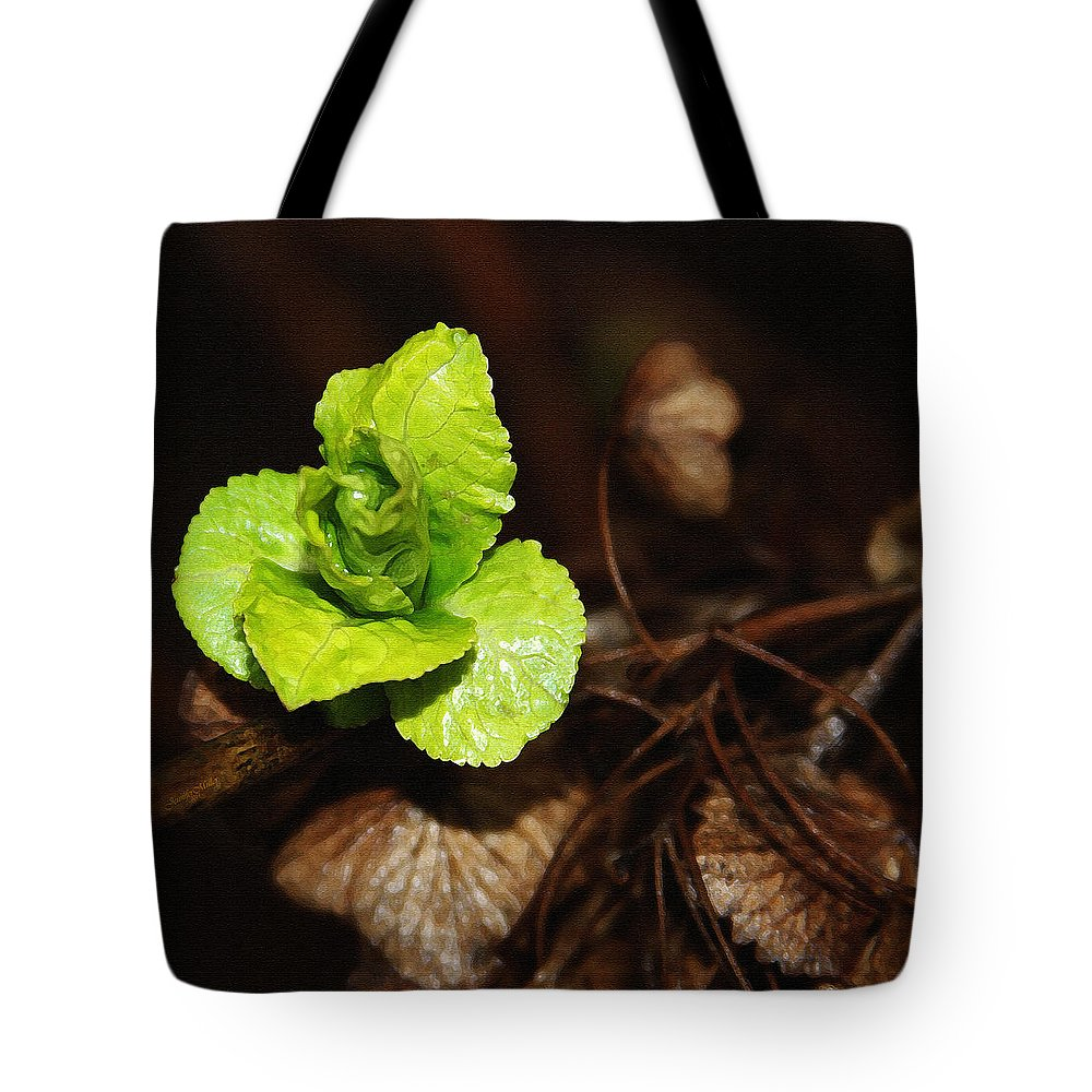 Photography Tote Bag featuring the painting New Life by Jennifer Muller