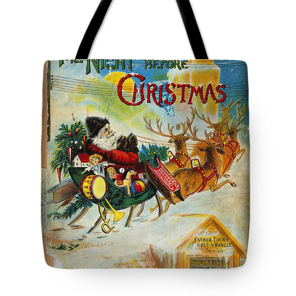 19th Century Tote Bag featuring the photograph Night Before Christmas by Granger