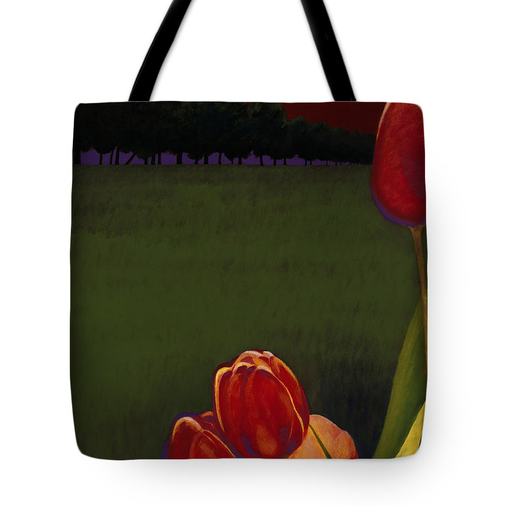 Tote Bag featuring the painting Night Life by Jerome Lawrence
