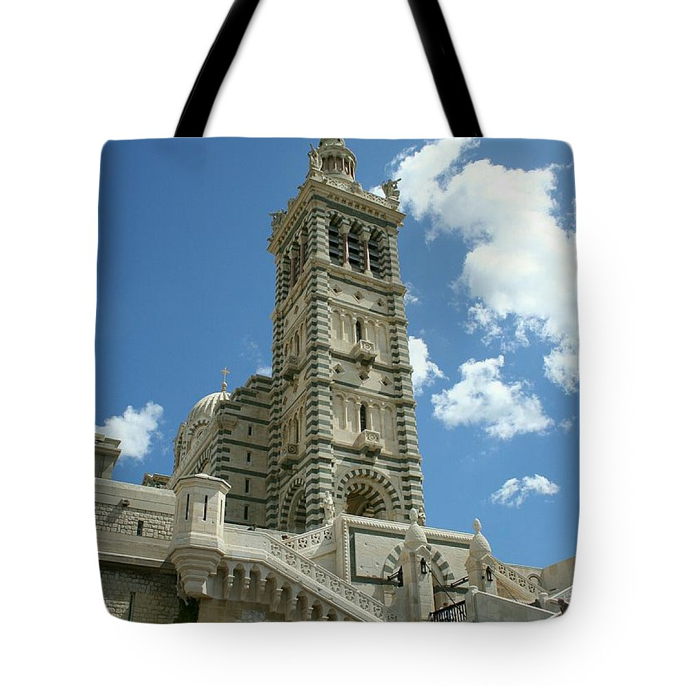 Cathedral Tote Bag featuring the photograph Notre Dame De La Garde by Christiane Schulze Art And Photography