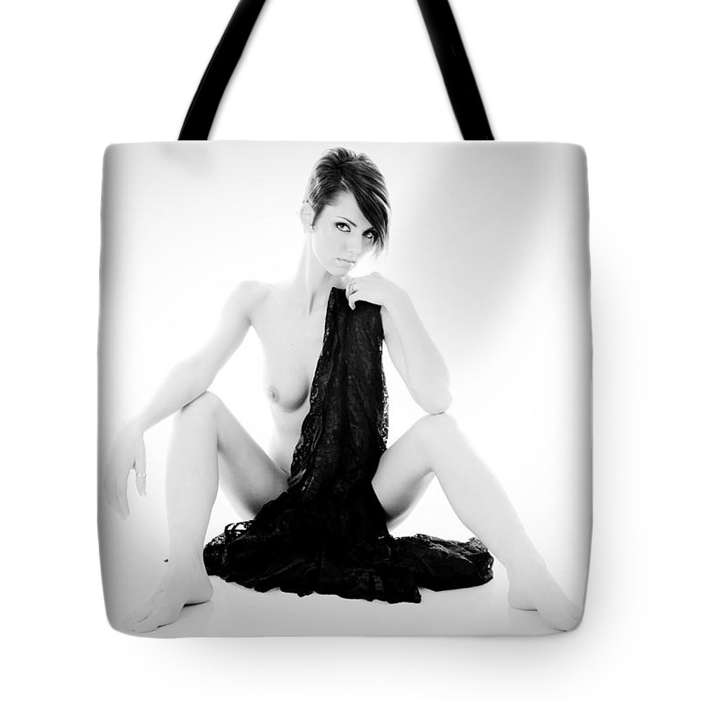 Position Tote Bag featuring the photograph Nude Lace by Jt PhotoDesign