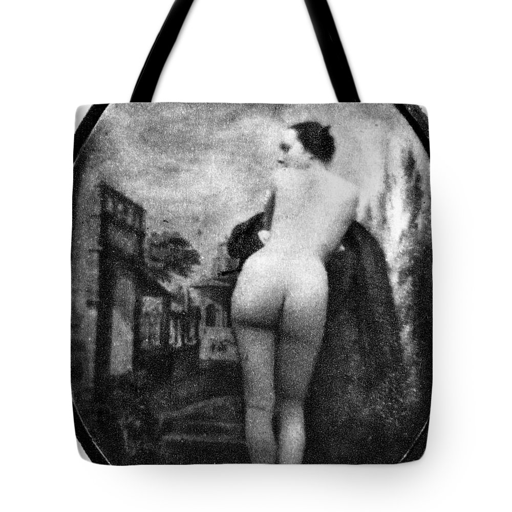 1843 Tote Bag featuring the photograph Nude Posing: Rear View by Granger