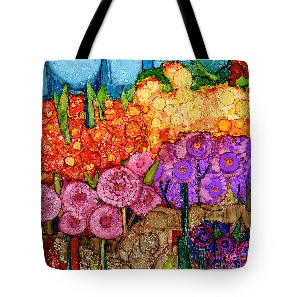 Abstract Tote Bag featuring the painting Number Xii by Vicki Baun Barry
