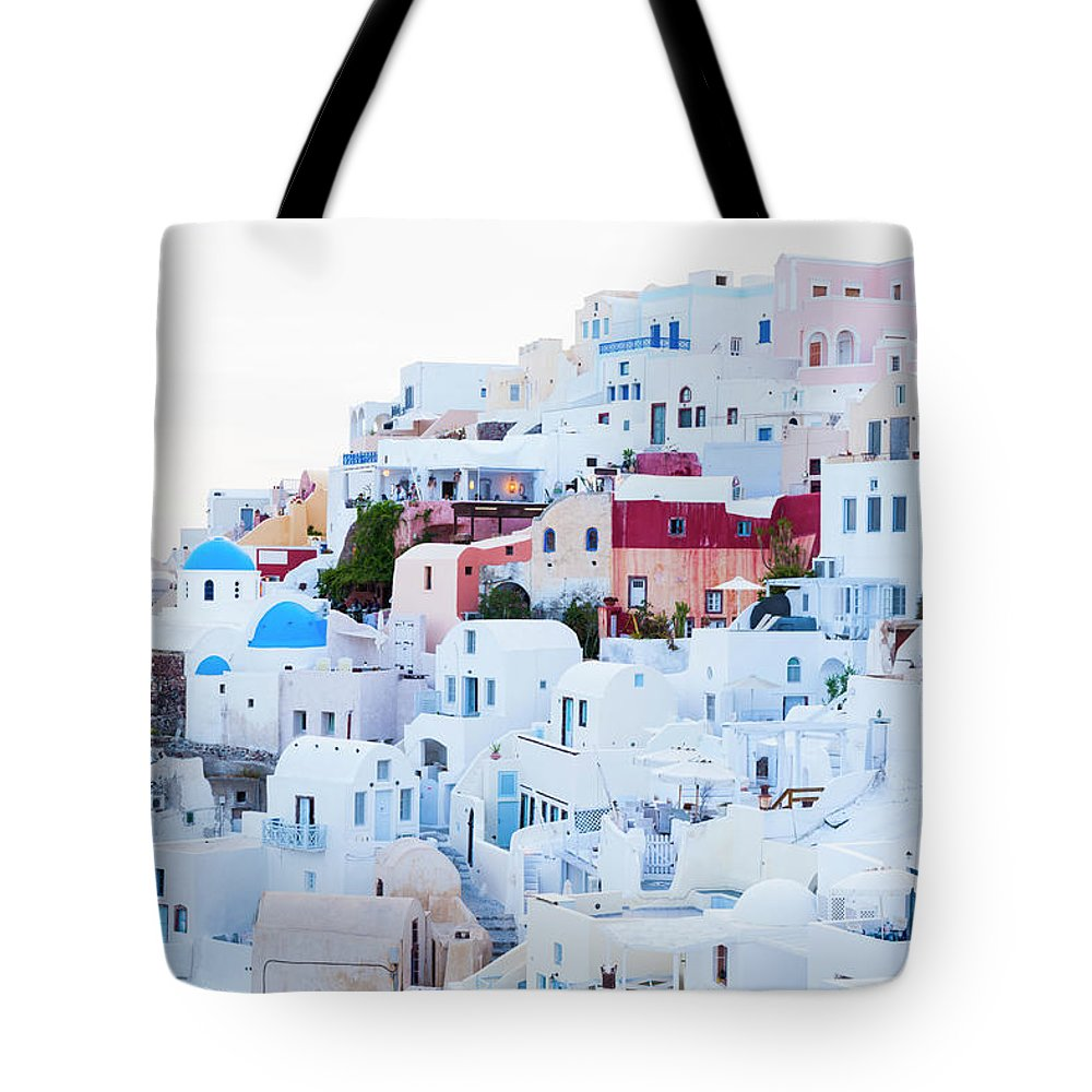 Tranquility Tote Bag featuring the photograph Oia by Jorg Greuel