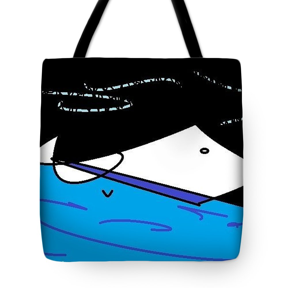 Expressive Tote Bag featuring the digital art Oil Spill by Lenore Senior