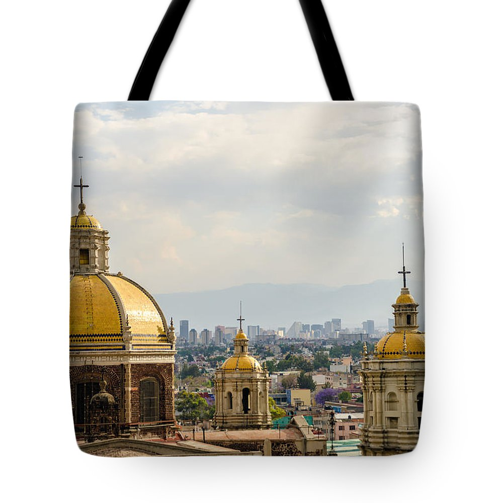 Mexico Tote Bag featuring the photograph Old Basilica Of Guadalupe by Jess Kraft