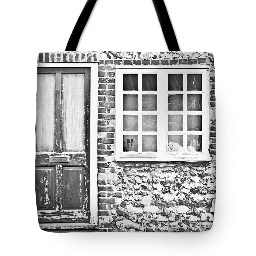 Architectural Tote Bag featuring the photograph Old Cottage by Tom Gowanlock