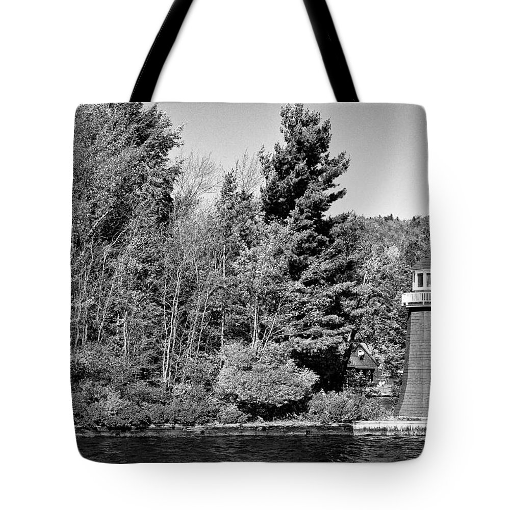 Adirondack's Tote Bag featuring the photograph Old Forge Lighhouse by David Patterson