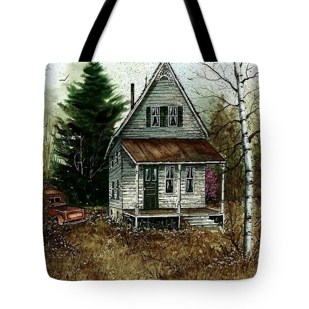 Landscape Tote Bag featuring the painting Old Homestead by Steven Schultz