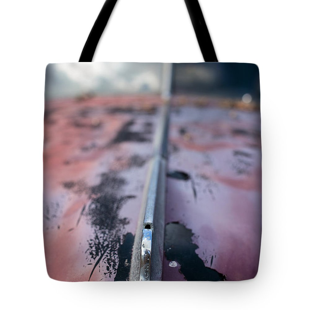 Car Tote Bag featuring the photograph Old Junker Car by Edward Fielding