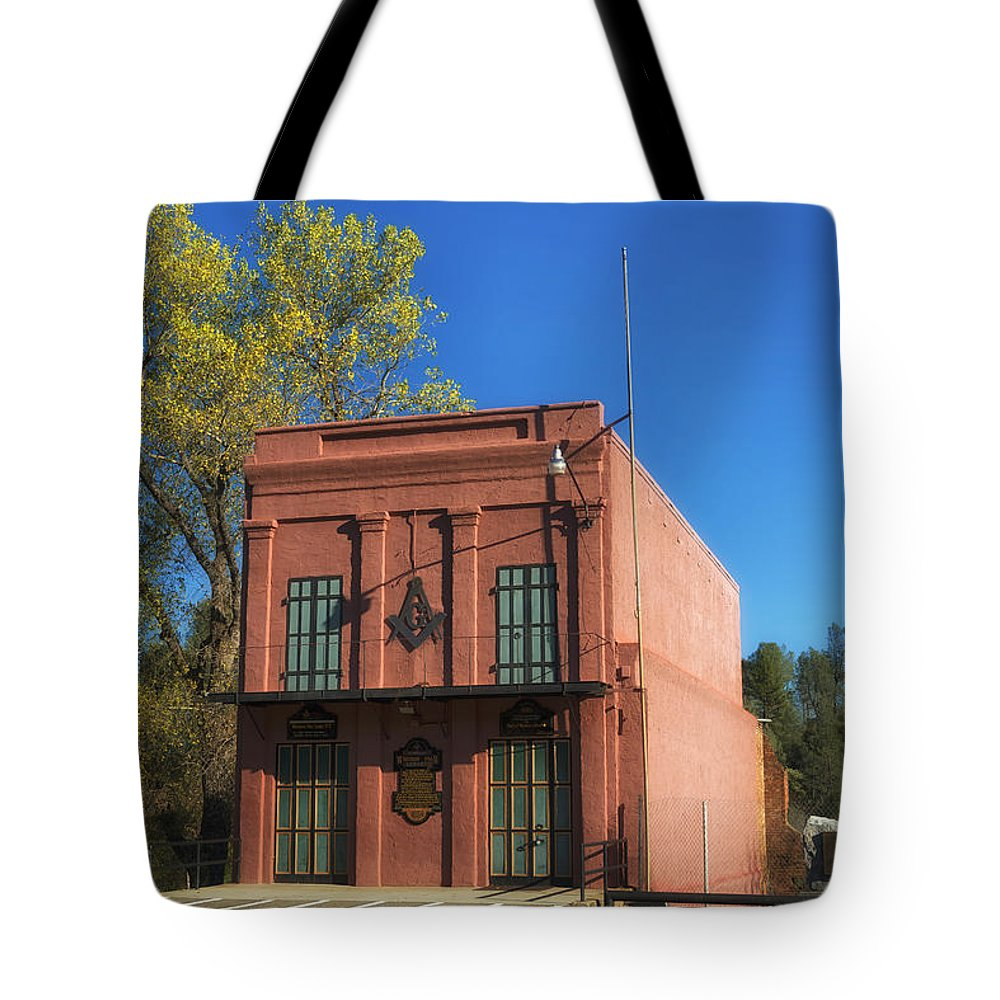 California Tote Bag featuring the photograph Oldest Masonic Lodge In California by Mountain Dreams