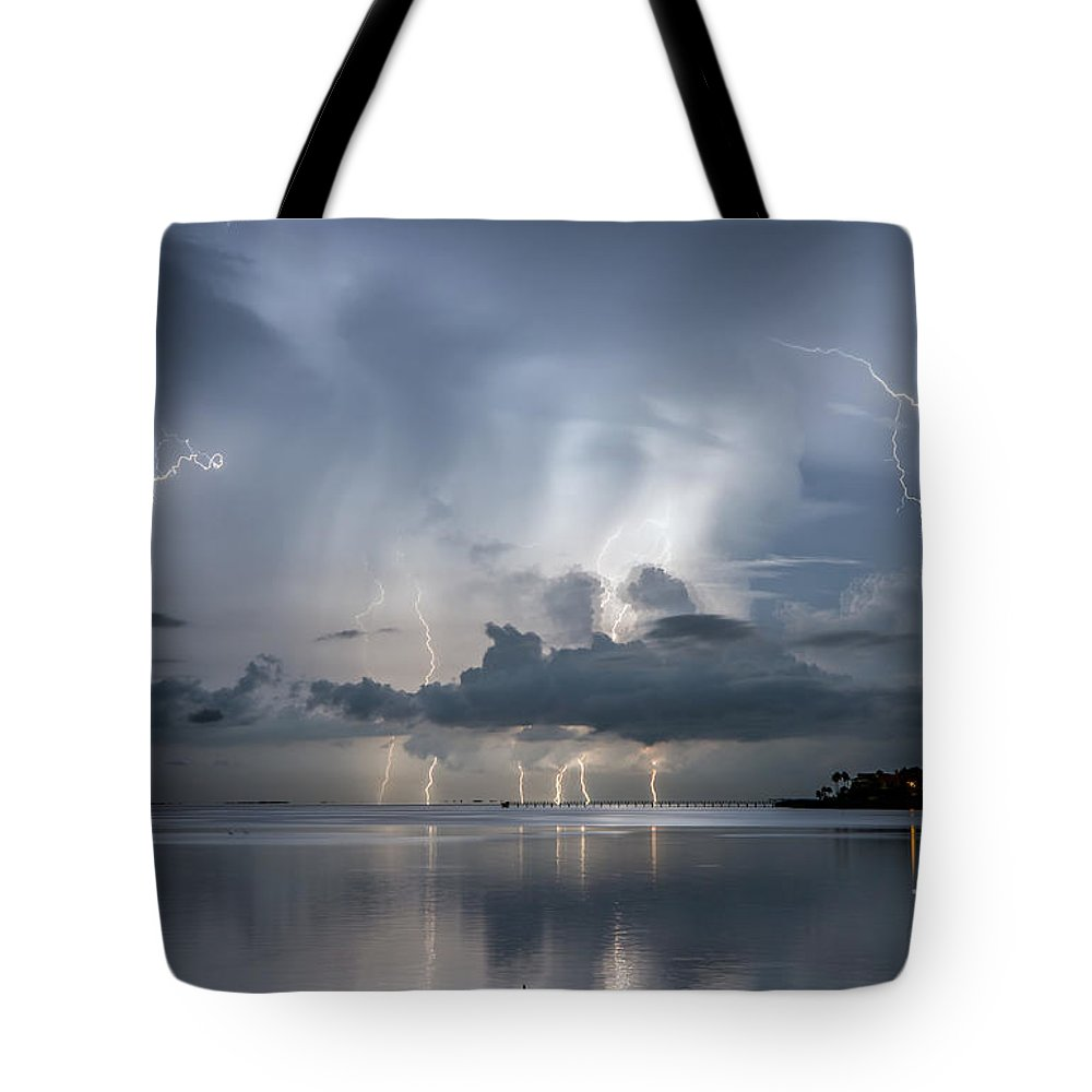 Ozona Tote Bag featuring the photograph Ominous Ozona by Stephen Whalen