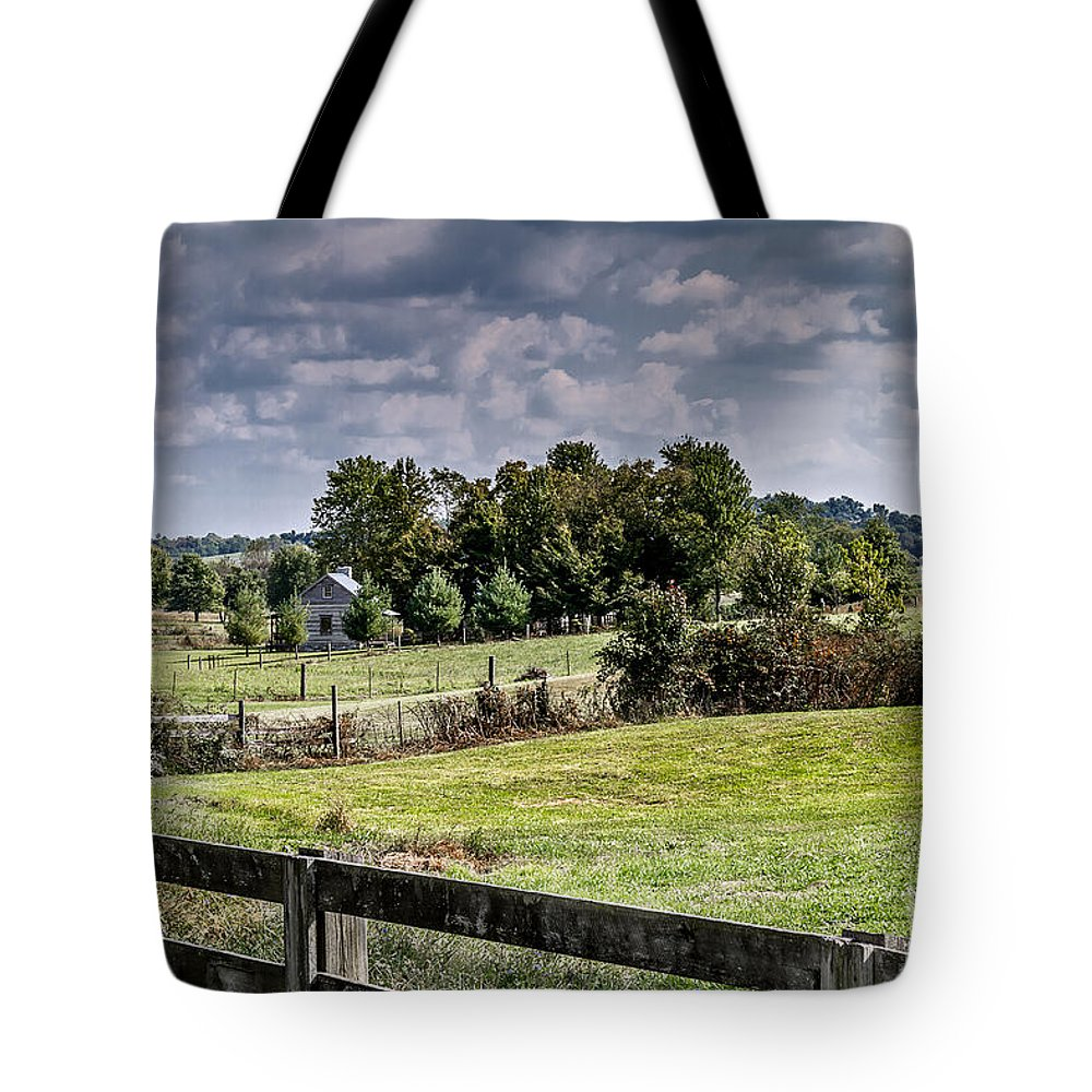 Rural Tote Bag featuring the photograph On The Farm by Ken Frischkorn