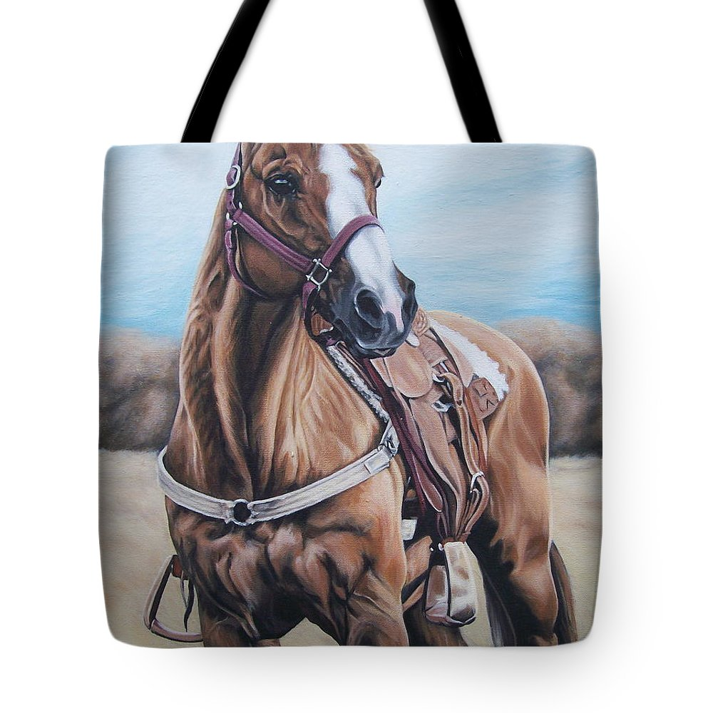 Horse Tote Bag featuring the painting Opal Bugs by Ann Holder